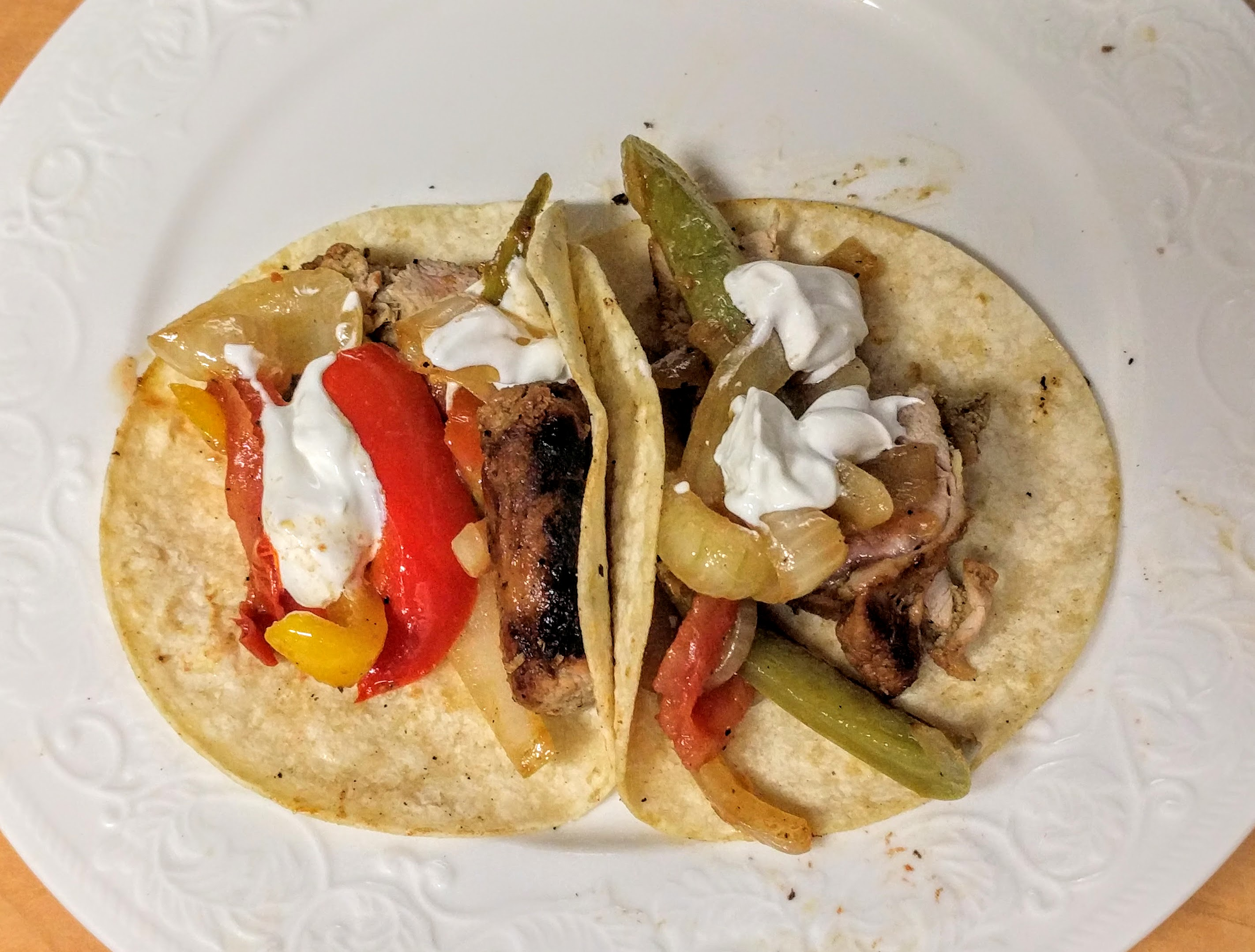 Beer-Marinated Pork Fajitas